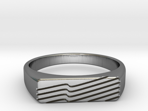 VINCI Ring in Polished Silver