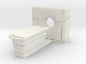 CT Scanner 01. O Scale (1:48) in White Strong & Flexible