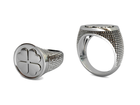 Quadrifoglio Size M (17.8 mm) in Polished Silver