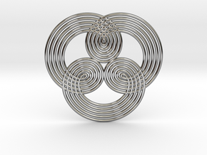0529 Motion Of Points Around Circle (5cm) #006 in Premium Silver