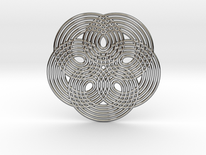 0537 Motion Of Points Around Circle (5cm) #014 in Premium Silver