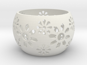 Tea light/Candle Holder in White Strong & Flexible