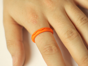 Ring CS02-ellipse in Orange Strong & Flexible Polished