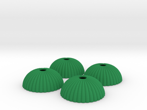 1/144 12mm scale army parachute para Fallschirm in Green Strong & Flexible Polished