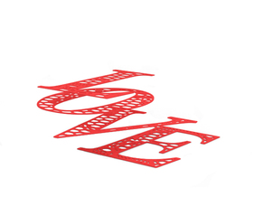 Decoration in Red Strong & Flexible Polished