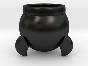 Rocket Eggcup in Matte Black Porcelain