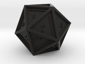 Braille D20 Mark II in Black Strong & Flexible
