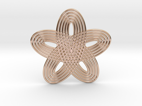 0545 Motion Of Points Around Circle (5cm) #022 in 14k Rose Gold Plated