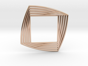 0549 Motion Of Points Around Circle (5cm) #026 in 14k Rose Gold Plated