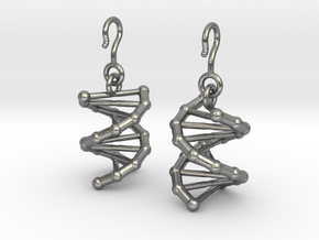 DNA Earrings in Raw Silver