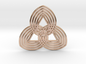 0558 Motion Of Points Around Circle (5cm) #035 in 14k Rose Gold Plated