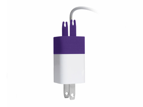 The Wrap - cable winder for iPhone charger in Purple Strong & Flexible Polished
