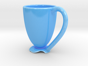 Float Expresso Cup in Gloss Blue Porcelain