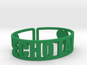 Echo Lake Cuff in Green Strong & Flexible Polished
