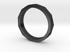 Engineers Ring Size 9 in Polished Grey Steel