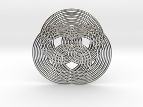0573 Triple Rotation Of Points (5 cm) #005 in Premium Silver