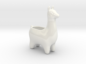 Llama Planters in Gloss White Porcelain