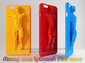 IPhone6 Plus Case Strong Man 001 in White Strong & Flexible