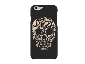 iPhone 6S_Funky Skull in Black Strong & Flexible