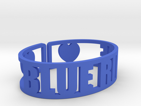 Blue Ridge Cuff in Blue Strong & Flexible Polished