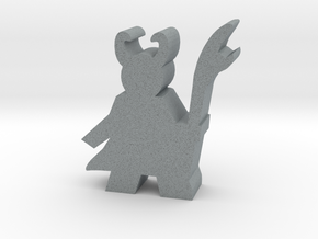 Game Piece, Trickster Villain Meeple - Large in Polished Metallic Plastic
