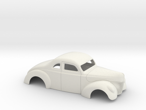 1/16 1940 Ford Coupe 2 Inch Chop in White Strong & Flexible