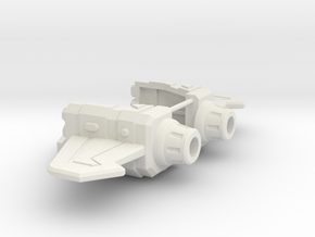 Psychotic Gunner's Fore Wings in White Strong & Flexible