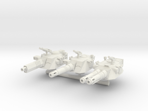 40k scale Turrets set in White Strong & Flexible
