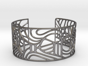 Cuff abstract no. 12 in Polished Nickel Steel