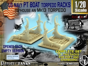 1-20 PT Torpedo Rack TypB Empty in Frosted Ultra Detail