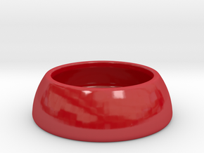 DOMOCLIP Paperclip Jar in Gloss Red Porcelain