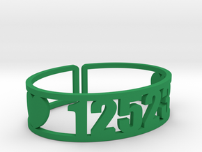 Scatico Zip Cuff in Green Strong & Flexible Polished