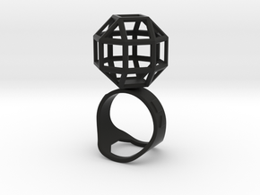 The Ring of the Rhombicuboctahedro in Black Strong & Flexible