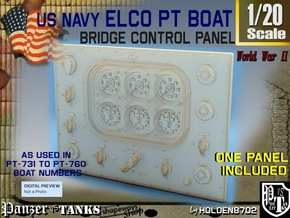 1-20 PT Boat Bridge Control Panel Typ5 in Frosted Ultra Detail
