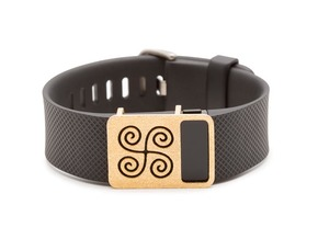 Steel River slide for Fitbit Charge & Charge HR in Matte Gold Steel