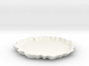 Plate in Gloss White Porcelain
