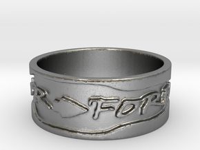 Warrior Forever #4 Ring Size 4 in Raw Silver