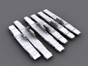 1/4800 US Navy WW2 Fleet Carriers Set1 in Frosted Ultra Detail