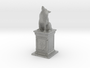 Wolf Statue in Metallic Plastic