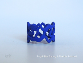 Tessellation Ring - 18,5mm in Red Strong & Flexible Polished