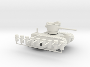 15mm AQMF MERRIMACK HEAVY TANK in White Strong & Flexible