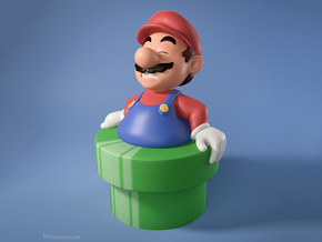 Fat Mario in Full Color Sandstone
