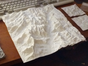 12'' Zion National Park Terrain Model, Utah, USA in White Strong & Flexible