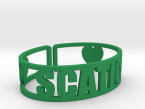 Scatico Cuff in Green Strong & Flexible Polished