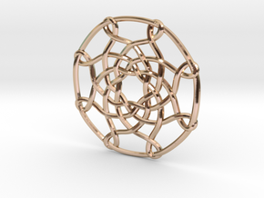 Celtic Knot Pendant in 14k Rose Gold Plated