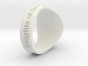 Auperball Tuned Ring Season 1 in White Strong & Flexible
