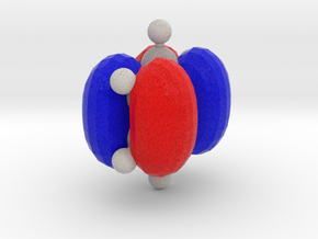 Benzene Orbital (HOMO) in Full Color Sandstone