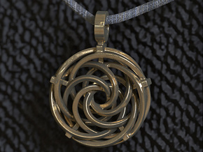 Vortex Pendant III (Precious Metal Release) in 14k Gold Plated