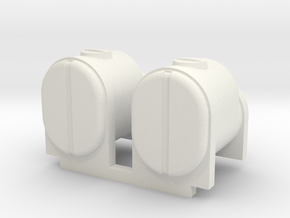 2 Square Bottom Tanks 200 Gal in White Strong & Flexible