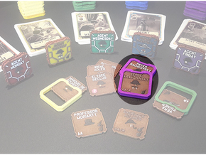 A.S.I.E. Agent Holders (8 pcs) in Purple Strong & Flexible Polished